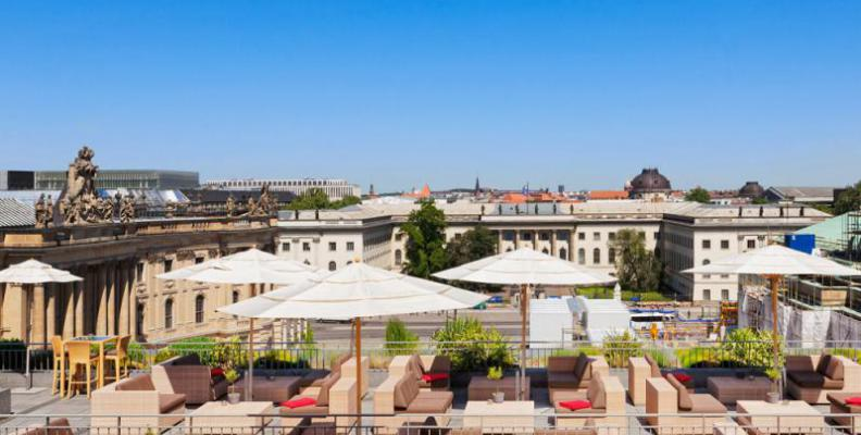 Rooftop terrace of hotel de rome rooftop restaurants for What is a hotel terrace