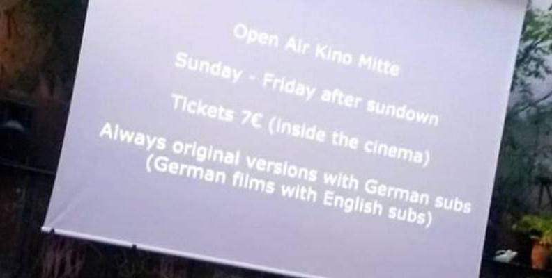 Foto: Open Air Kino Mitte