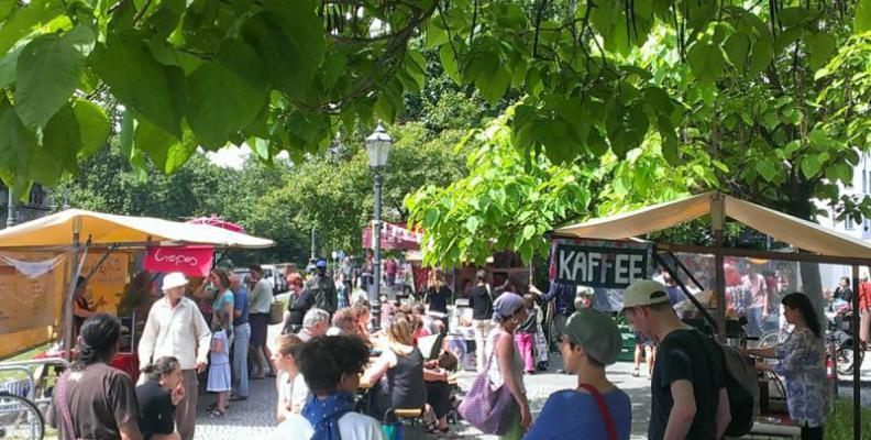 Foto: Wochenmarkt am Südstern / diemarktplaner