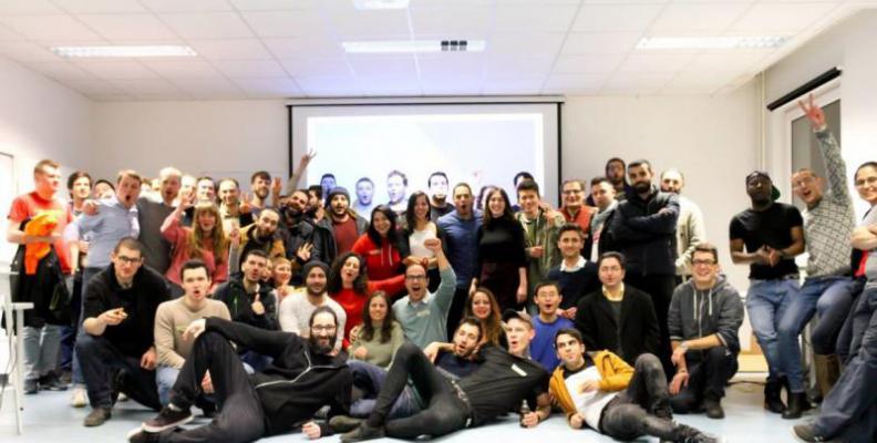 Abschlussevent beim Hackathon in Berlin