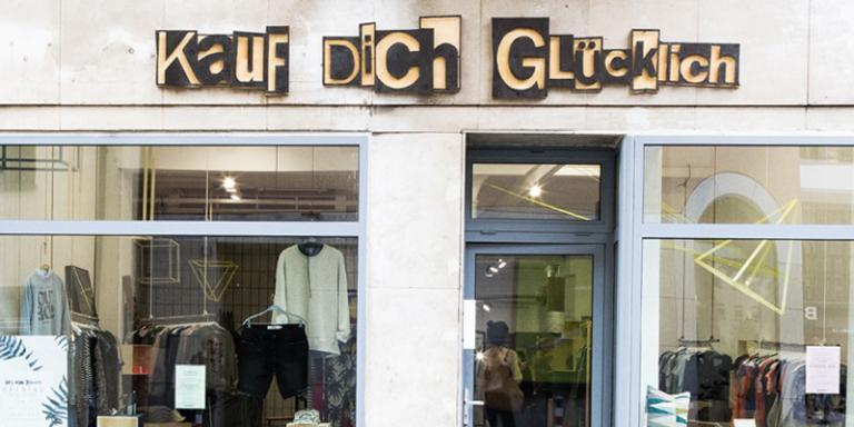Foto. Kauf Dich Glücklich, Rosenthaler Straße
