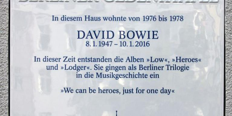 David Bowie's house plate